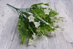 Искусственное растение - Колокольчик с декором белый