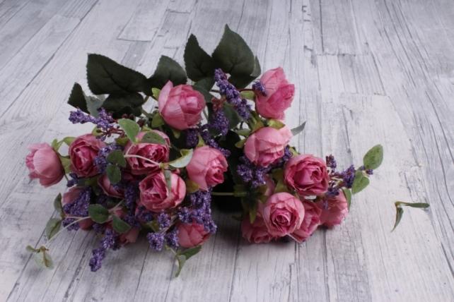 Искусственное растение - Ранункулюс Ретро пепельно-розовый