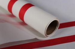"""Упаковочный Материал Ламинированный фетр """"Горизонталь"""" , 60 см х 5 м белый"""