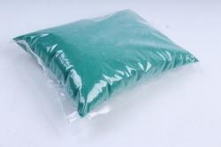 Песок кварцевый 1 кг, изумрудный  6028