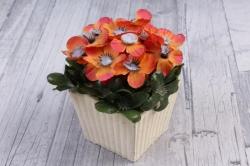 Цветочная композиция (И) - Цветы оранжевые в кашпо   HK-41470  2010