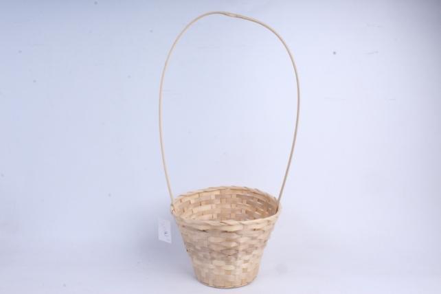Корзина плетеная (бамбук), Круглая  натуральная0626