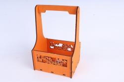 """Ящик для цветов (А) """"День знаний"""" №1  оранжевый.1С011о"""