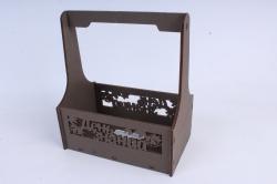 """Ящик для цветов (А) """"День знаний"""" №4  коричневая сепия.1С014кс"""