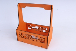 """Ящик для цветов (А) """"День знаний"""" №4  оранжевый.1С014о"""