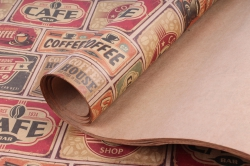05702  Бумага  КРАФТ 203/669  Coffee shop  0,7*1м (10 лист.)