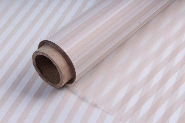 Пленка матовая 60см*10м полоска вертикальная крем