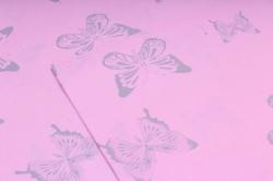 """Набор бумаги плотной, 10 листов 50*70см """"Бабочки"""" розовый  1269"""