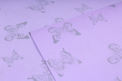 """Набор бумаги плотной, 10 листов 50*70см """"Бабочки"""" сиреневый  1276"""