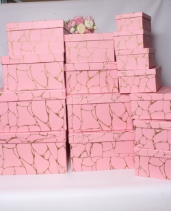 Набор подарочных коробок из 3шт- Квадрат горчичный 26*26*11 Н28