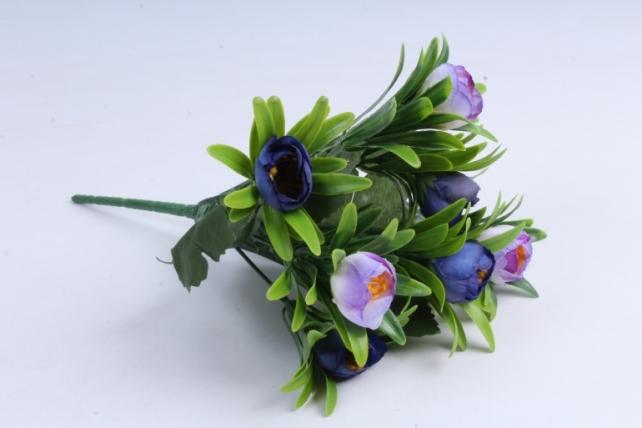 Искусственное растение - Ранункулюс пастель синий