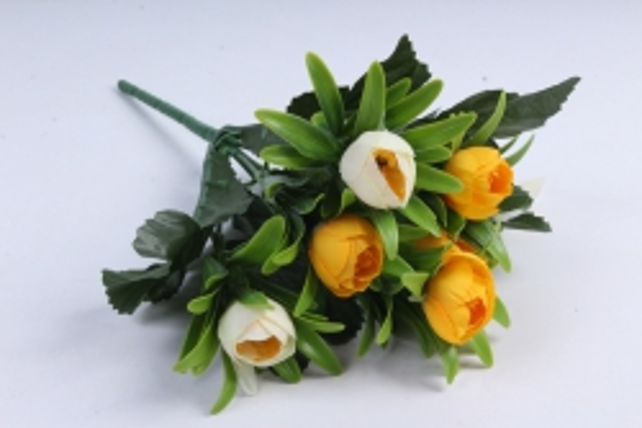 Искусственное растение - Ранункулюс пастель жёлто/белый