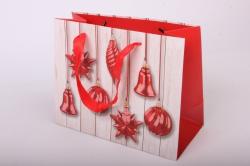"""Подарочные пакеты - Сумка Люкс """"Новогодние Игрушки""""  (23*18*10) Микс 10745-25"""