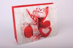 """Подарочные пакеты - Сумка Люкс """"Новогодние Игрушки""""  (31,5*26*9,5)  Микс 10745-26"""