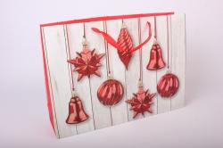 """Подарочные пакеты - Сумка Люкс """"Новогодние Игрушки""""  (44*31*12) Микс 10745-27"""