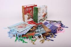 Подарочные пакеты - Сумки ламинированные Новый Год 16x16x7 (20 шт/уп) Микс  Цена за упаковку