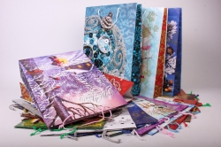 Подарочные пакеты - Сумки ламинированные Новый Год 33x45x10 (20 шт/уп) Микс Цена за упаковку