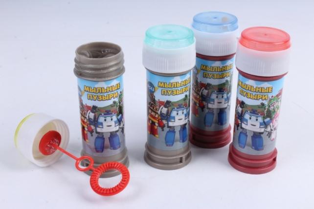 Пузыри мыльные Робокар Поли (50мл), 36 штук в боксе 500393