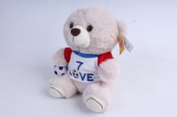 Игрушка мягкая Медведь в свитере и с мячом  21см  М-3500/21