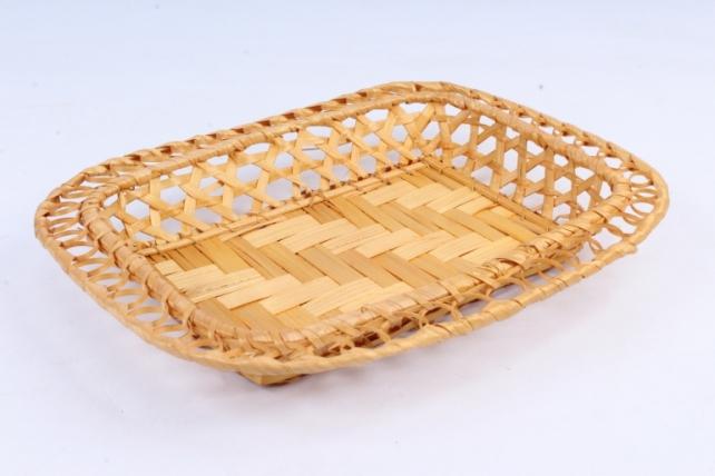 Плошка плетеная (бамбук) - Прямоугольник ажур