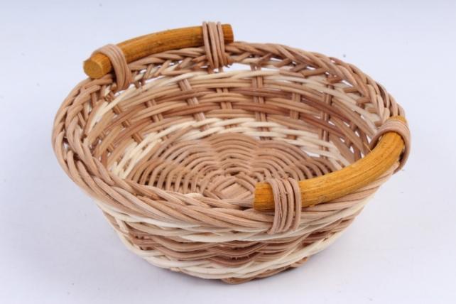 Плошка плетеная (бамбук) - Круг коричневый с кантом