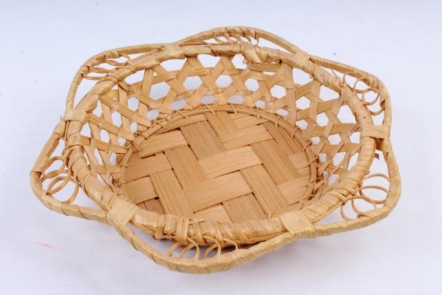 Плошка плетеная (бамбук) - Круг цветочек