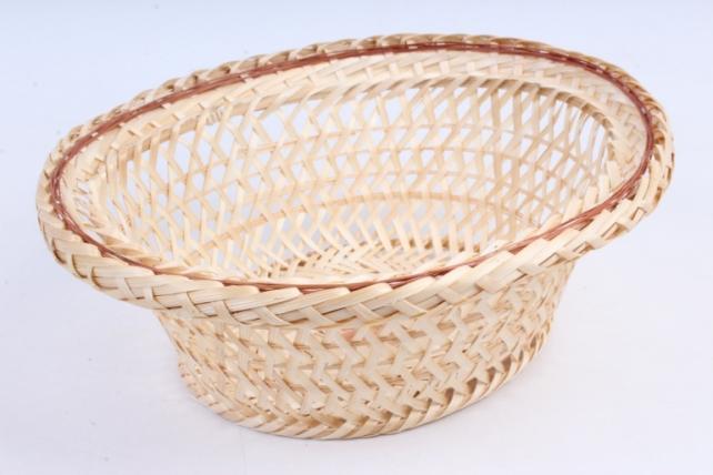 Плошка плетеная (бамбук) - Овал шляпа