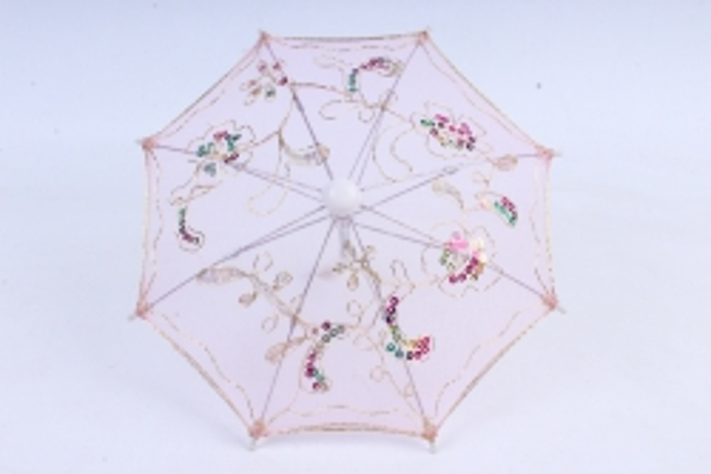Зонт декоративный гипюр 30см Розовый