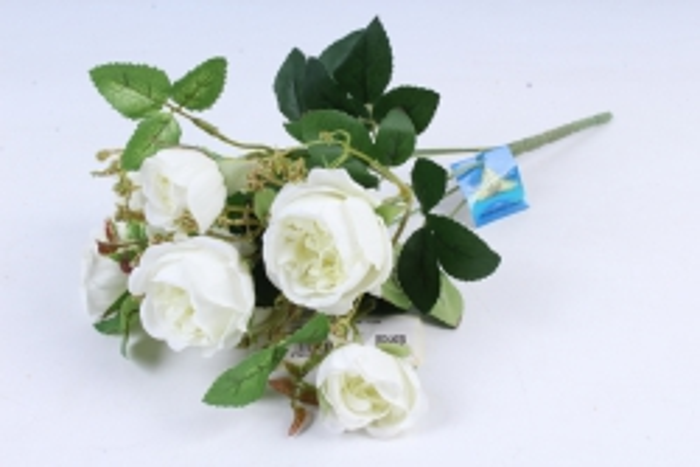 Искусственное растение - Роза пионовидная белая