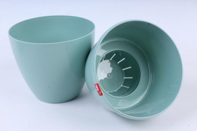Цветочный (А) горшок Деко Твин (пластик), 2,5л, нефритовый  2301