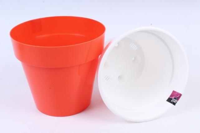 Кашпо (А) Порто со вставкой (пластик), 2,4л, оранжевый  2479
