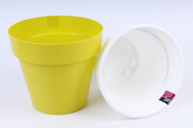 Кашпо (А) Порто со вставкой (пластик),  2,4л, фисташковый  2486
