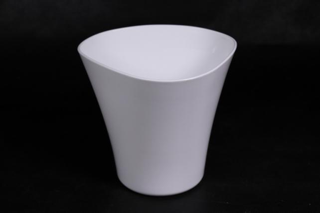 Кашпо (А) Волна (пластик), белый  0345