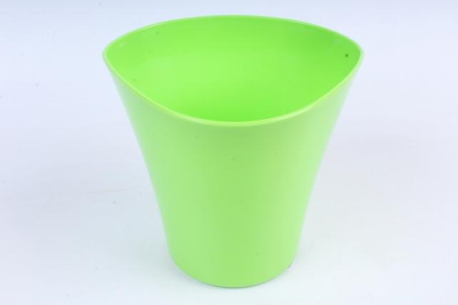 Кашпо (А) Волна (пластик),  1,5л, зеленый  1304