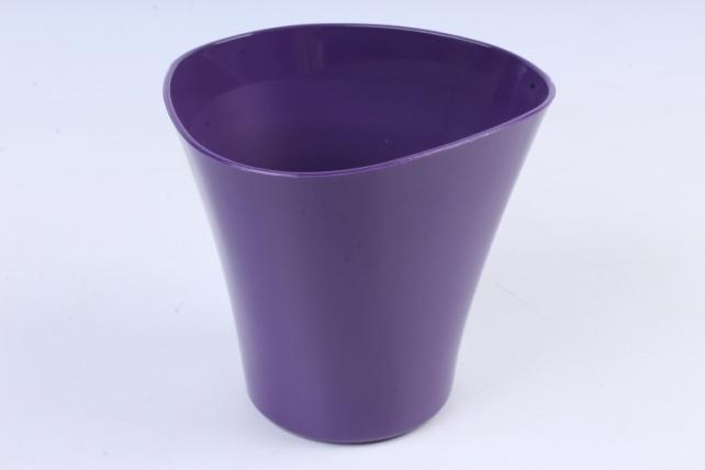 Кашпо (А) Волна (пластик),  1,5л, фиолетовый  1298