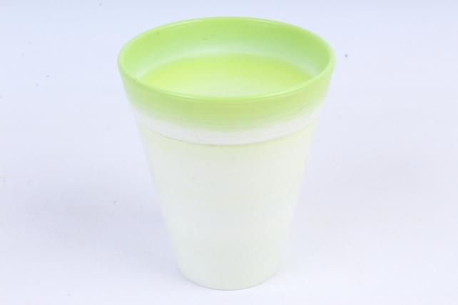 Кашпо (А) (пластик), 0,35л,  зеленый  0117