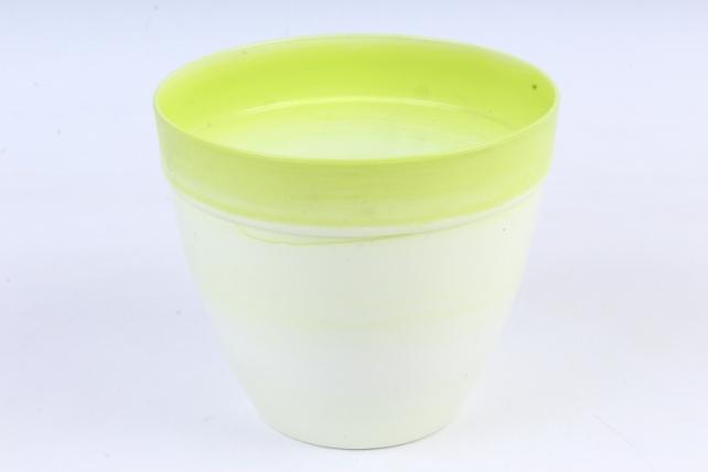 Кашпо (А) (пластик), 1,5л,  зеленый  4894