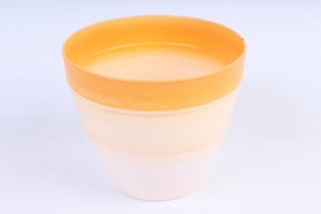 Кашпо (А) (пластик), 1,5л,  оранжевый  5174