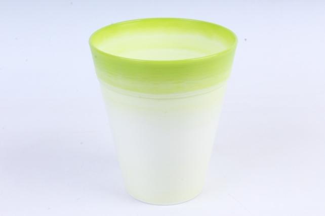 Кашпо (А) (пластик), 1,7л,  зеленый  9714