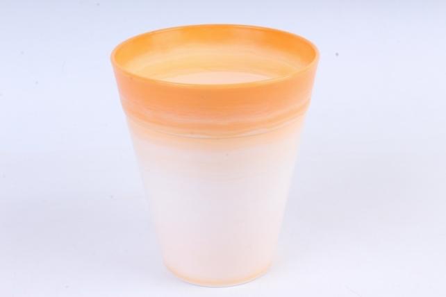 Кашпо (А) (пластик), 1,7л, оранжевый  9752