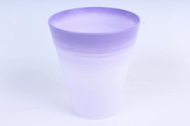 Кашпо (А) (пластик), 1,7л,сиреневый  9721