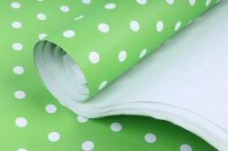 "Бумага 1м*70см Дизайнерская бумага ""Салатовый горох""  78г/м2  10шт/уп  (М)"