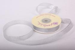 Лента парча 1,5см*23м, серебро  WSN25SILVER  К