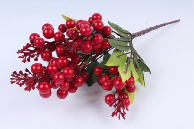 Искусственное растение -  Ветка гонконгской вишни красная  В9798