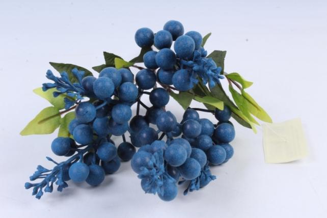 Искусственное растение -  Ветка гонконгской вишни черничнаяВ9798