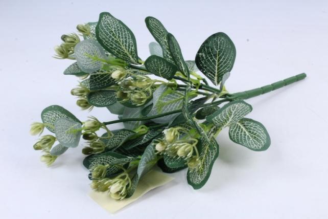 Искусственное растение -  Княженика бело-салатовая  Б9747