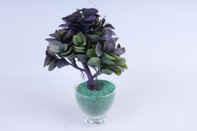 Искусственное растение -  Эвкалипт комнатный с корнями сиреневый  Б10154