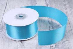 Лента атласная гладкая, односторонняя, 38мм х 25м (голубой 1056)  9053, К