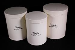 Набор подарочных коробок (3 шт) - Цилиндр Шампань d=21/h=26см К202