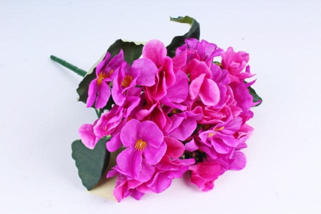 Искусственное растение - Фиалки Букет малиновые
